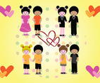 Love Couples Vectors