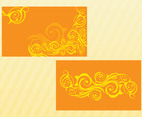 Swirls Vector Cards