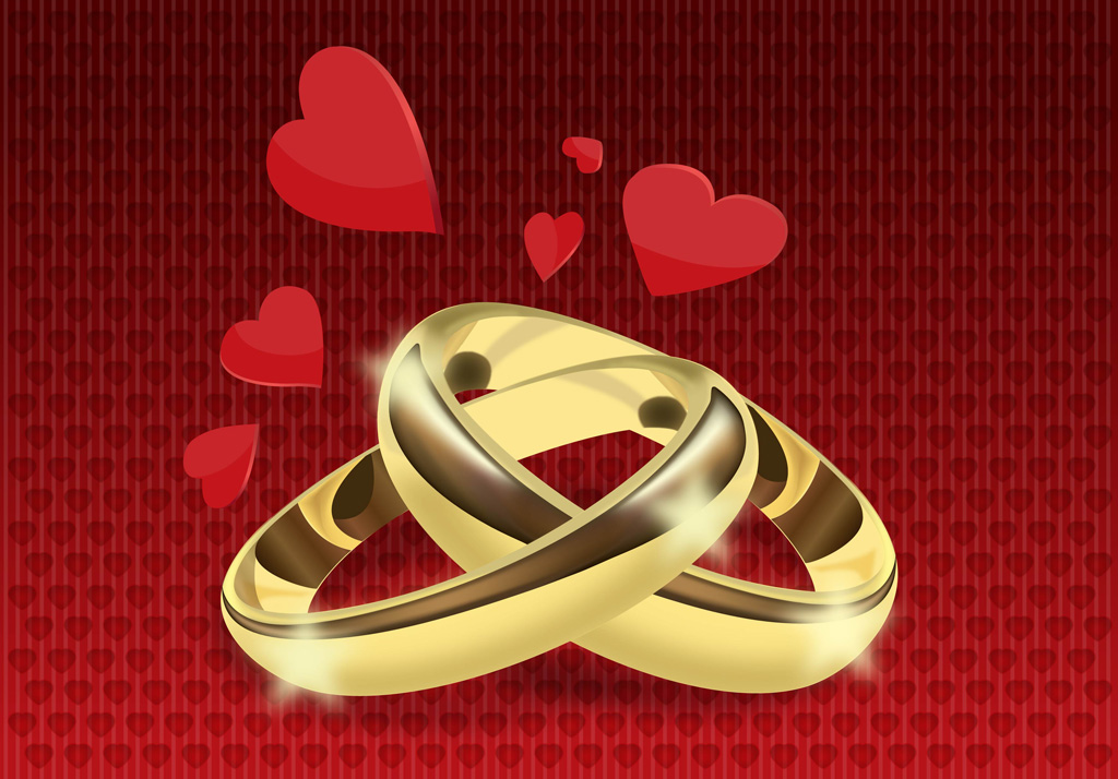 Wedding Rings Vector Vector Art & Graphics | freevector.com