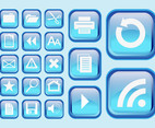 Blue Interface Symbols