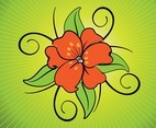 Exotic Flower Vector