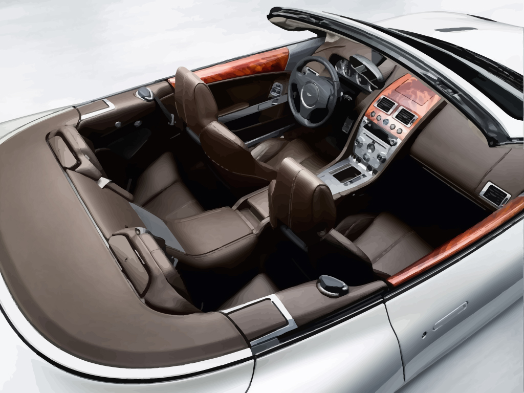 aston martin db9 interior vector art & graphics | freevector