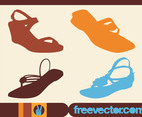 Summer Shoes Vectors
