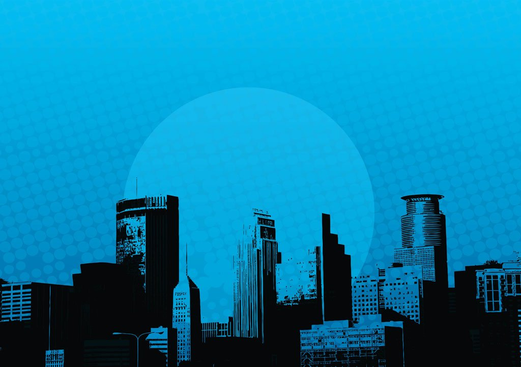 City Skyscrapers Buildings Vector