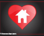 Heart Home Icon