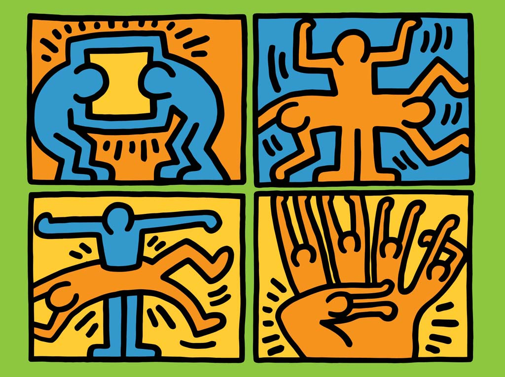 Keith Haring Vector Vector Art & Graphics | freevector.com
