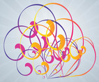 Colorful Swirls Vector Art