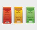 Color Option Banner Vectors
