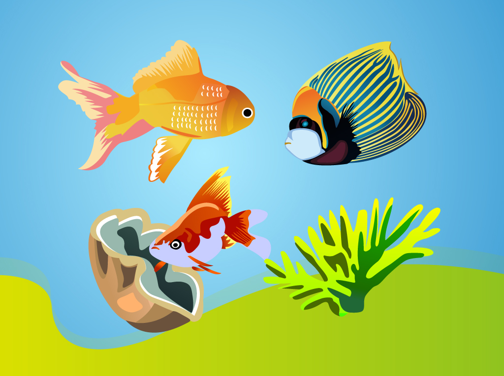 Tropical Fishes Vectors