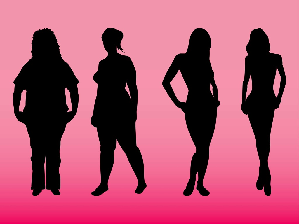 Displaying 20> Images For - Women Body Silhouette...