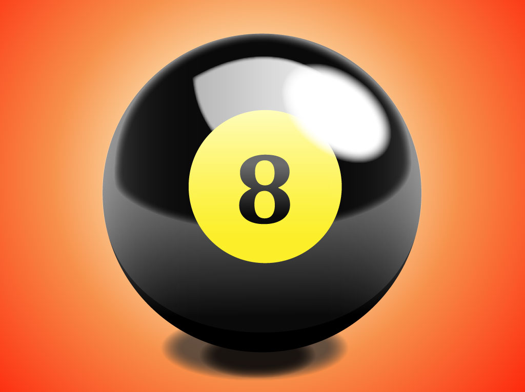 Realistic 8 ball vector art graphics - 8 ball pictures ...