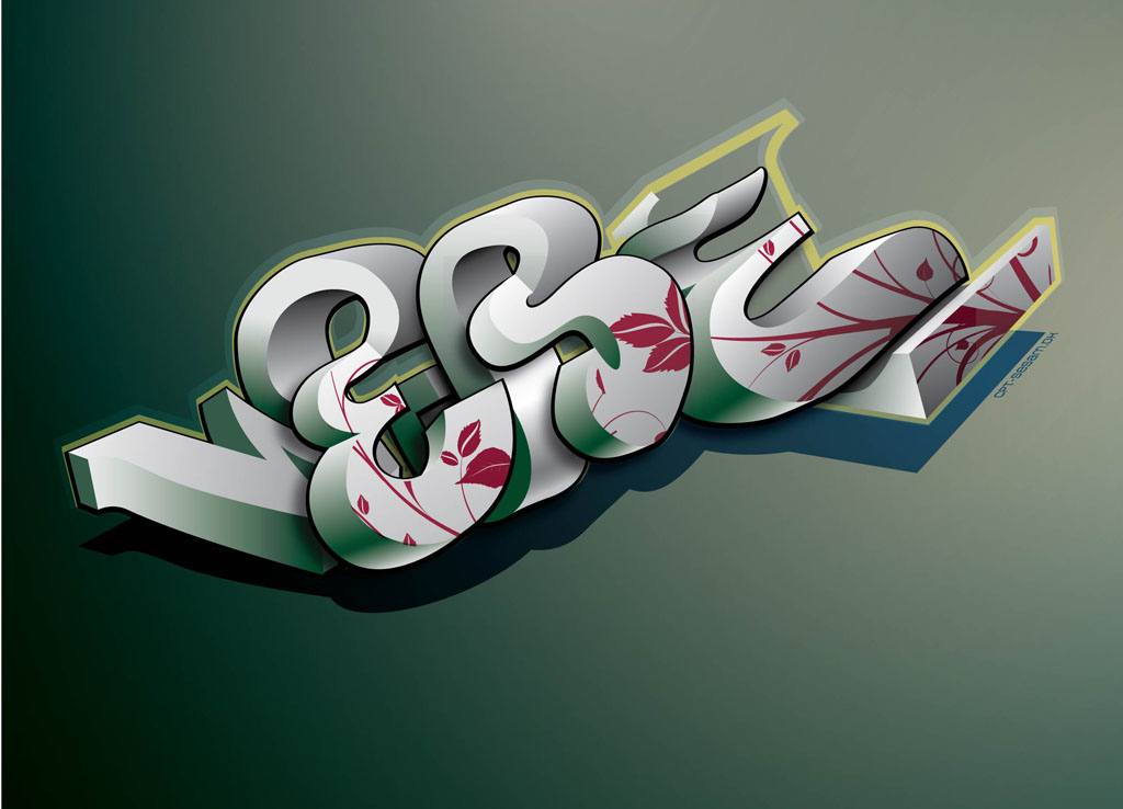 3D Graffiti Vector