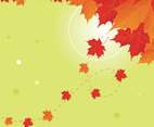 Orange Fall Leaves Background Vector