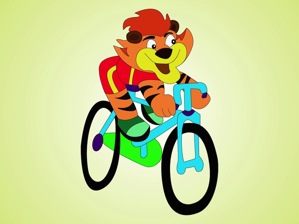 Tiger On Bike