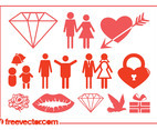 Marriage And Love Icons