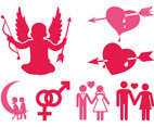 Love And Marriage Icons