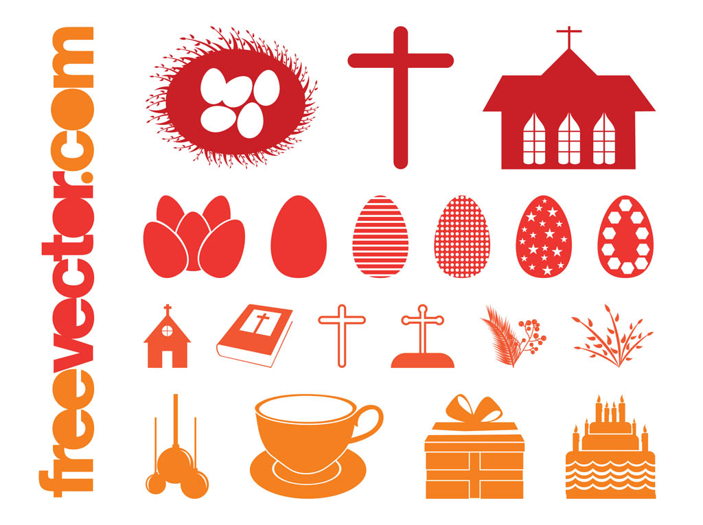Easter Silhouettes Set