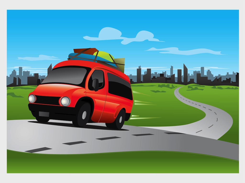 clipart car driving on road - photo #21