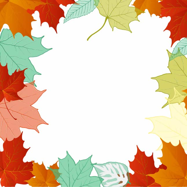 Free Fun Leaf Frame Vector Background Vector Art ...