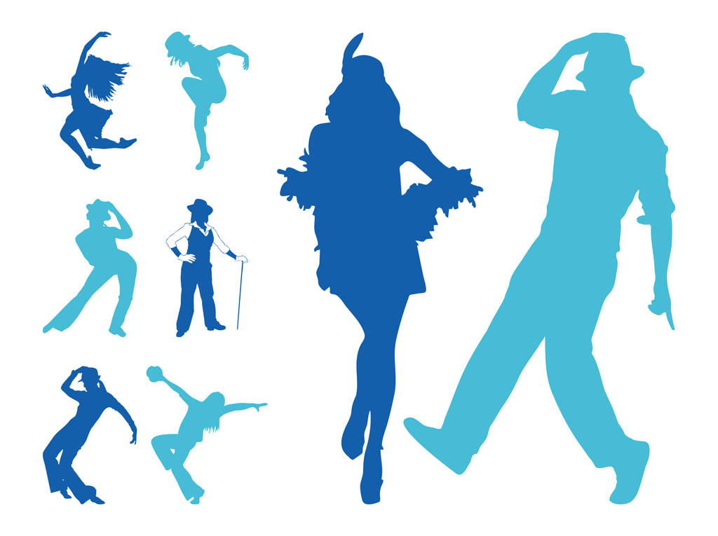 Jazz Dancers Silhouettes